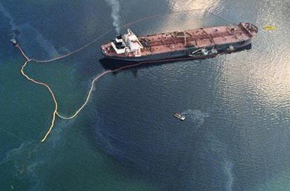 Exxon Valdez Runs Aground