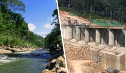 Nam Theun 2 before/after