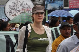 Rebecca Tarbotton, the new executive director of Rainforest Action Network