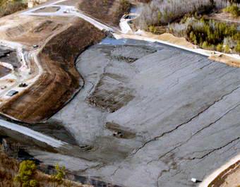 Coal ash landfill