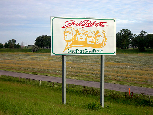 Welcome to South Dakota highway sign