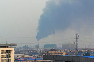 Air pollution in Hangzhou, China