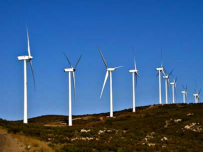 Wind turbines in San Diego County