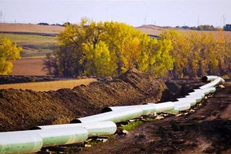 TransCanada's Keystone I oil pipeline contruction in North Dakota in 2010