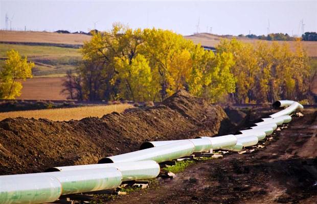 TransCanada's Keystone I oil pipeline contruction in North Dakota in 2010