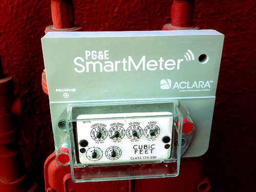 A smart meter from PG&E