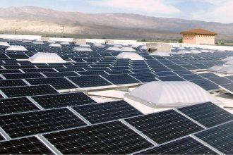 Solar power panels on the Palm Desert, Calif. Walmart