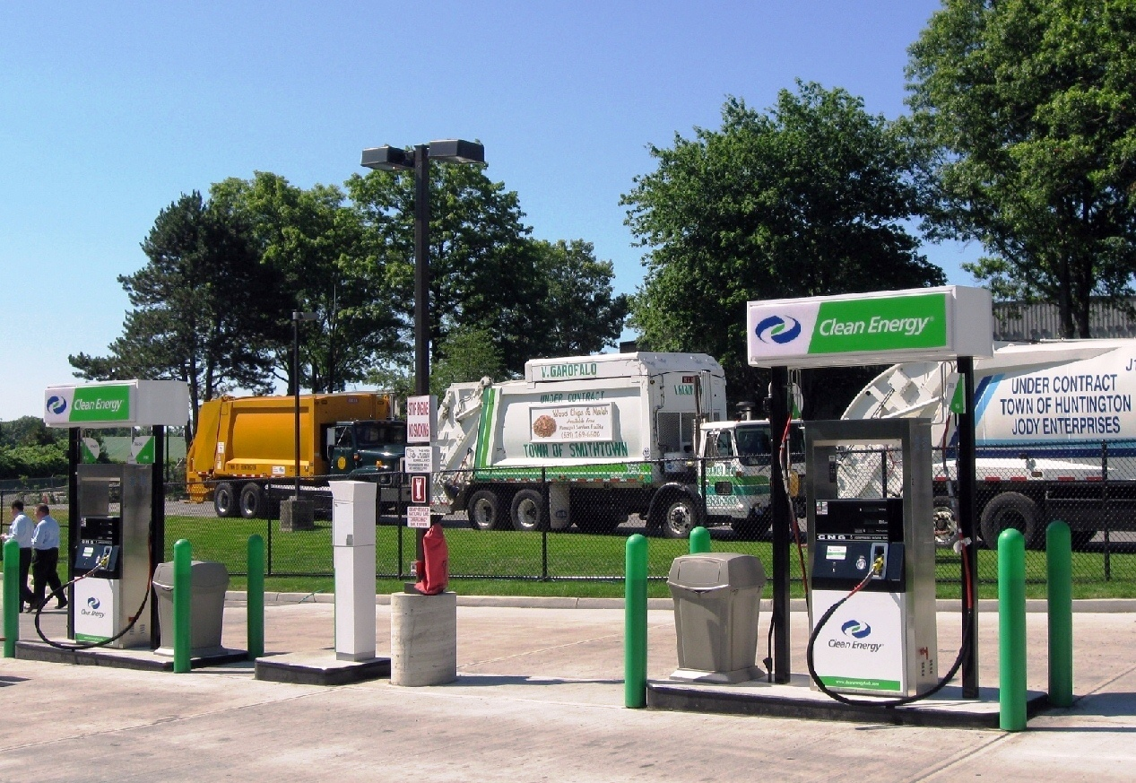 Natural gas fueling station in the  town of Smithtown, N.Y.