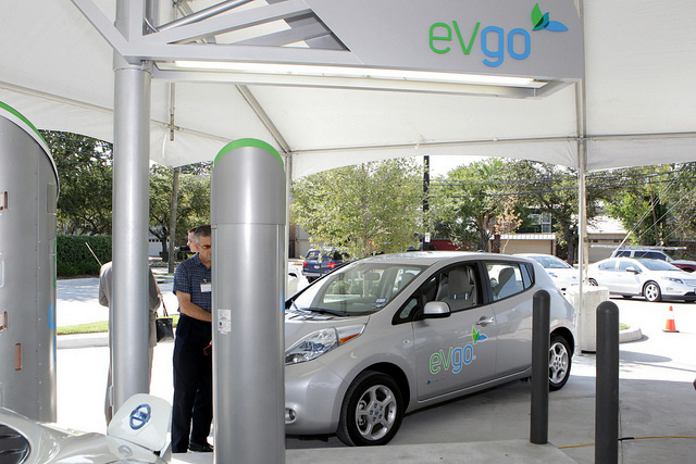NRG Energy's electric vehicle charging station in Houston