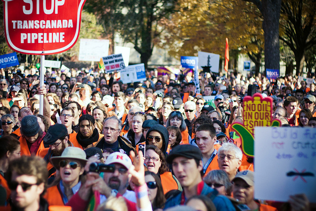 Some 10,000 protesters gathered around the White House to protest Keystone XL