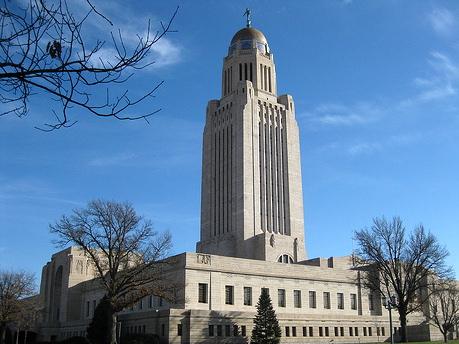 The Nebraska capitol building in Lincoln.