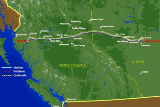 Route of the Northern Gateway Pipeline Project/Source: Enbridge
