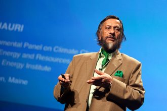Rajenda Pachauri, chair of the Intergovernmental Panel on Climate Change (IPCC),