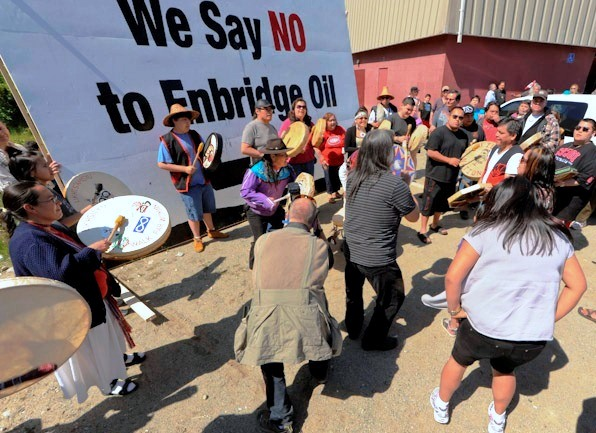 A protest against the Northern Gateway pipeline