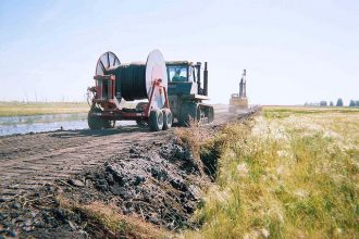 Construction of the first Keystone pipeline in South Dakota