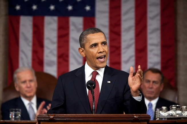 President Barack Obama delivers the State of the Union, Jan. 24, 2012.