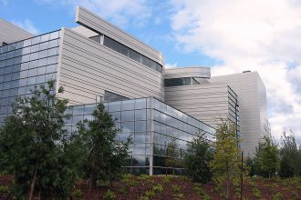 Wayne Lyman Morse United States Courthouse in Eugene, Ore., a green building tha