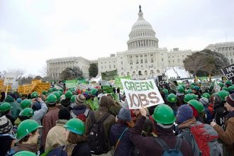 A youth-led green jobs rally in Washington in Oct. 2009