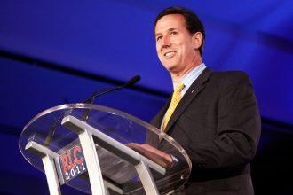 Rick Santorum speaking to the Republican Leadership Conference