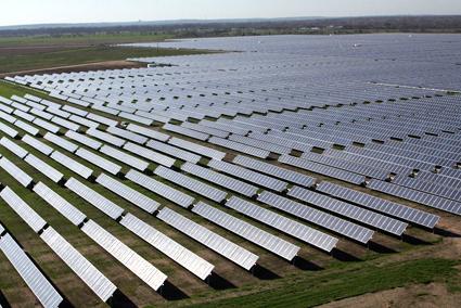 Utility-scale Webberville Solar Project outside Austin