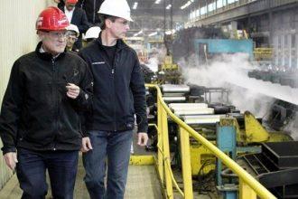 Ontario Premier Dalton McGuinty tours Essar Steel Algoma, which manufactures ste