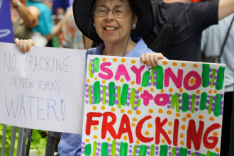 Opponenet of fracking