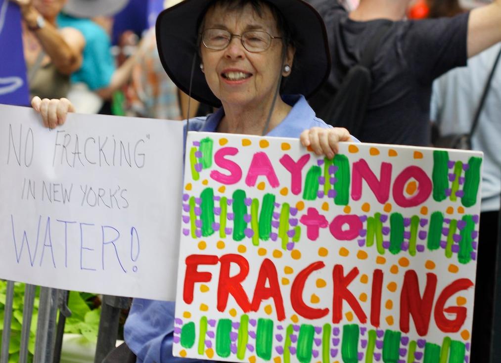 Opponenet of fracking