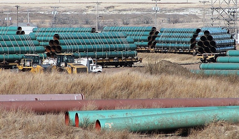 TransCanada Keystone pipeline depot, Gascoyne, North Dakota, February 2012/Credi