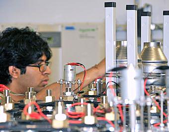 Divyaraj Desai, a member of the battery team at the CUNY Energy Institute