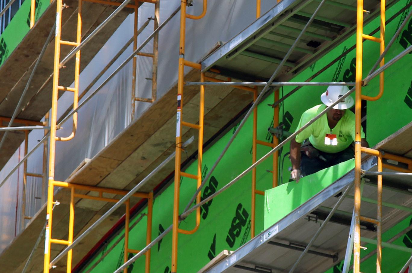 Green construction worker