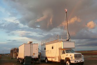 Two mobile facilities designed to measure greenhouse gases.