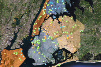 New York City solar map created by the City University of New York.