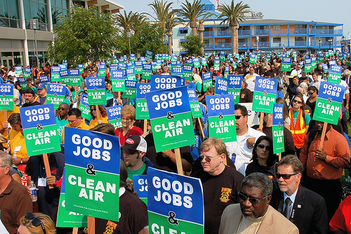 Clean air rally in Oakland, Calif.