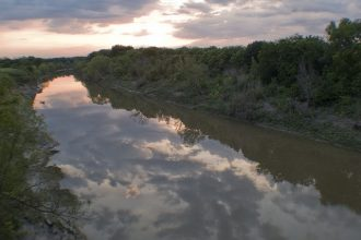 The Sulphur River in Lamar County, Texas