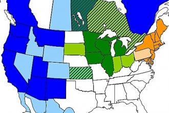 States and provinces participating in various state and regional cap-and-trade