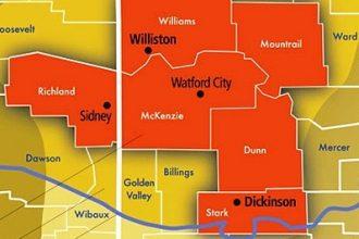 The Bakken oil patch in North Dakota.