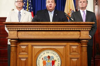 Gov. Chris Christie speaks after signing into law the solar energy bill