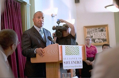 Mass. Gov. Deval Patrick outlines his clean energy agenda at the Alliance to Sav