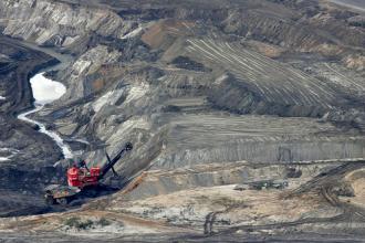 Shell Albian Sands strip mine outside Fort McMurray, Alberta
