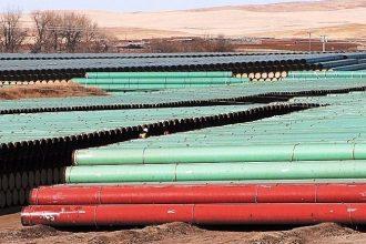 TransCanada's Keystone XL pipeline depot