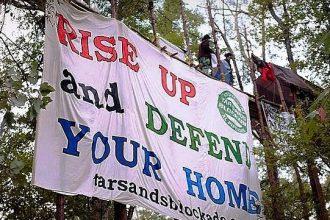 Tree protesters in Winnsboro, Texas