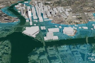 Map of Tampa, Fla. if sea levels rose by 5 feet.