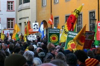 Anti-nuclear protest in Freiburg, Germany, in March 2011.