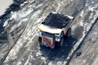 Syncrude oil sands mining operation in Alberta, Canada