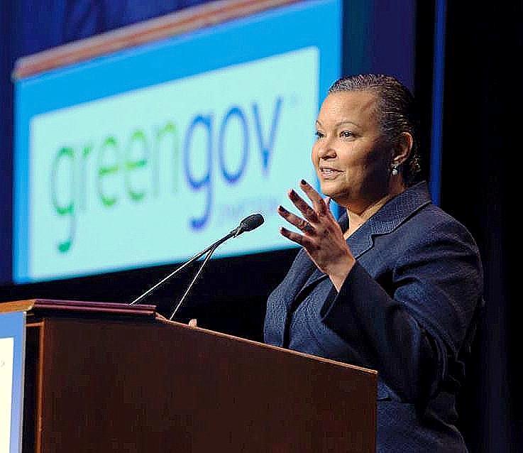EPA Administrator Lisa Jackson speaks at the GreenGov Symposium in September 201