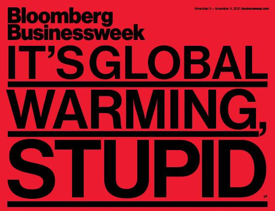 Bloomberg Businessweek's magazine cover on Nov. 1, following superstorm Sandy