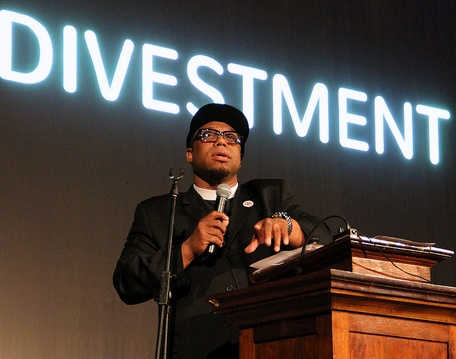 Minister and community activist Rev. Lennox Yearwood speaks during one of Bill M