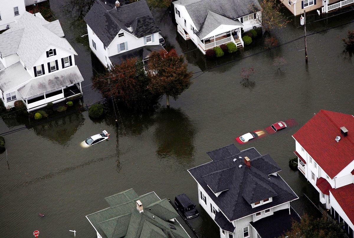 Hurricane Sandy damage in New Jersey