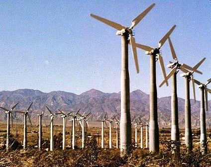 The San Gorgonio Pass Wind Farm in Whitewater, Calif.