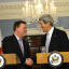 U.S. Secretary of State John Kerry with Canadian Foreign Minister John Baird